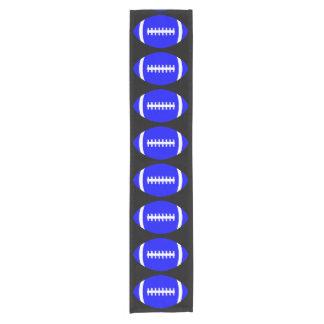 装飾的な青いフットボール・チームのパーティーか宴会またはイベント ショートテーブルランナー
