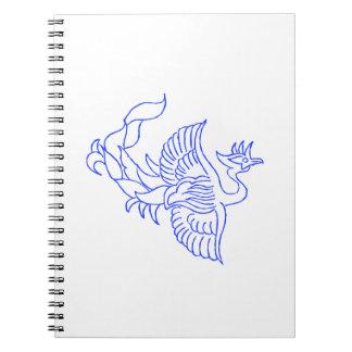 装飾的な鳥の創造物 ノートブック