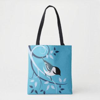 装飾的な《鳥》アメリカゴガラのバッグ トートバッグ