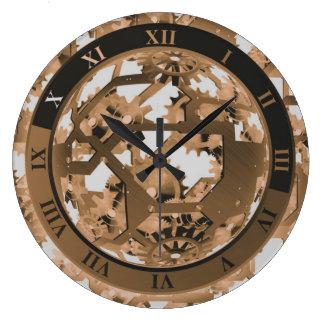 装飾的なSteampunkのヴィンテージのスタイル ラージ壁時計