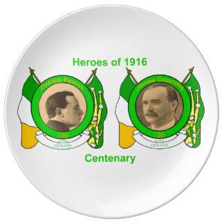装飾的磁器プレートのためのアイルランドの英雄のイメージ 磁器プレート