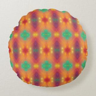 装飾-オレンジ円形のクッションの愛のため ラウンドクッション