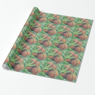 裏庭のオレンジの包装紙 ラッピングペーパー