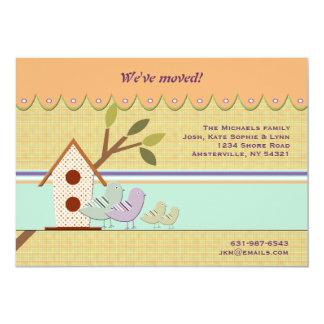 裏庭の巣箱の移動発表 12.7 X 17.8 インビテーションカード