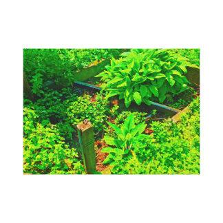 裏庭の庭 キャンバスプリント