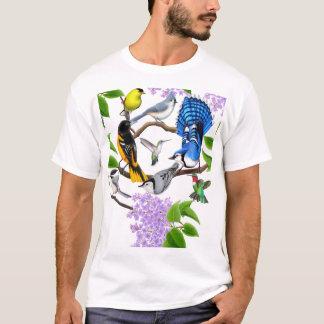 裏庭の鳥の恋人のワイシャツ Tシャツ