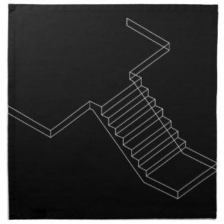 補強されたセメントのコンクリート階段 ナプキンクロス