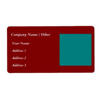 補足の色の組合せ/組合せ2つ 発送ラベル