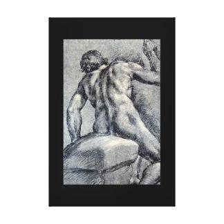 裸の人、マスターの見られたFrom_Studies キャンバスプリント