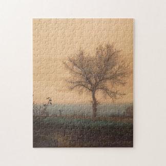 裸の木およびPlowmanとの景色 ジグソーパズル