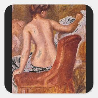 裸体によって伸ばされるon_Groupsおよび姿 スクエアシール