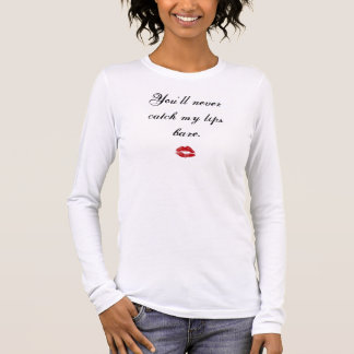裸唇決して 長袖Tシャツ