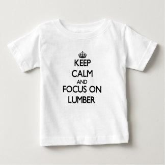 製材の平静そして焦点を保って下さい ベビーTシャツ