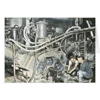 製材所の労働者の幻灯のスライド4 カード