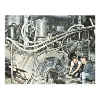 製材所の労働者の幻灯のスライド4 ポストカード
