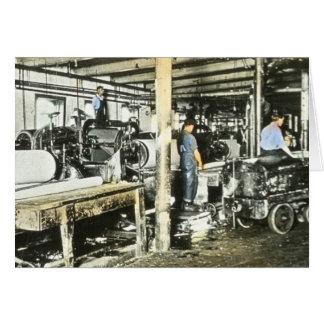製材所の労働者の幻灯のスライド6 カード