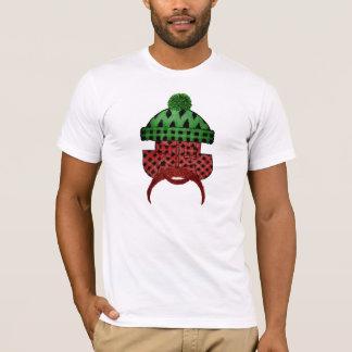 製材格子縞の男 Tシャツ