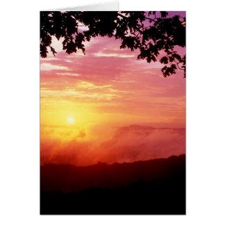 製粉業者のリバー・バレーの日没 カード