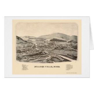 製粉業者の滝、MAのパノラマ式の地図- 1889年 カード