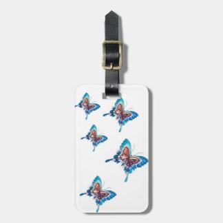 複写された蝶 ラゲッジタグ