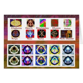 複数の画像の芸術-霊気のKarunaのホリスティック カード