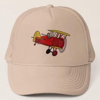 複葉機の帽子 -- 赤い キャップ