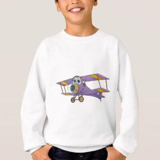 複葉機の紫色の漫画 スウェットシャツ