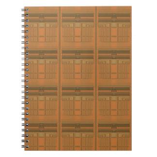 複雑なオレンジDecoの幾何学的な螺線形ノート スプリングノート