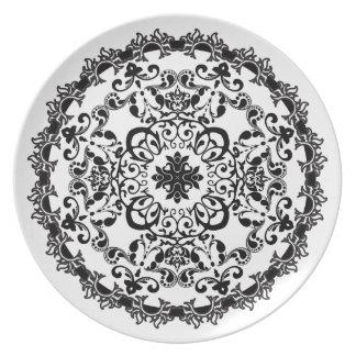 複雑なディナー用大皿 プレート