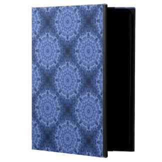複雑なロイヤルブルーの万華鏡のように千変万化するパターンパターン POWIS iPad AIR 2 ケース