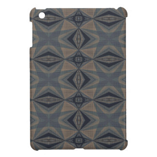 複雑な世界-灰色の抽象芸術、ベージュ、青い iPad MINI CASE