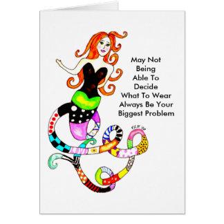 複雑な人魚の友情の挨拶状 カード