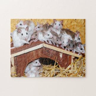 複雑な屋上のネズミ ジグソーパズル
