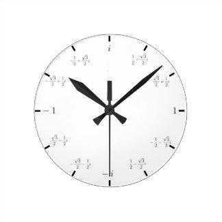 複雑な数学の時計 ラウンド壁時計
