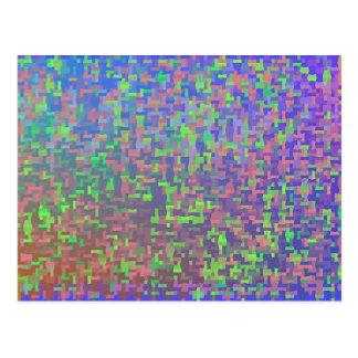 複雑な無秩序の抽象芸術 ポストカード