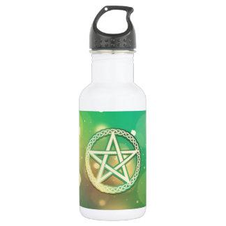 複雑な緑の星形五角形 ウォーターボトル