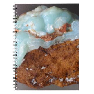 褐鉄鉱の宝石Ssmithsonite、Lavrion ノートブック