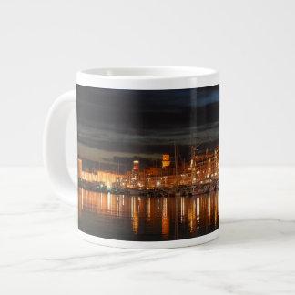 襲って下さいマルセーユ- Leジャンボvieuxの港(nuit)を ジャンボコーヒーマグカップ