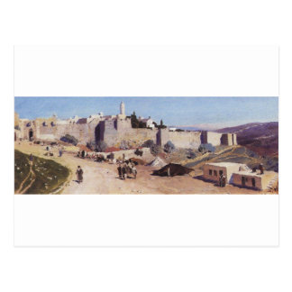 西からのエルサレム。 Jaffaのゲート ポストカード