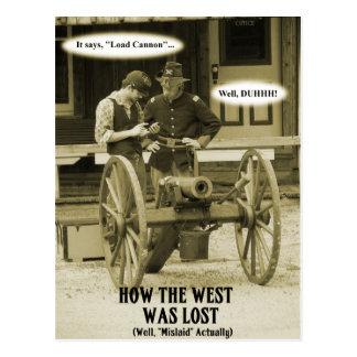 西がいかに失ったか! ポストカード