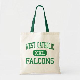 西にカトリック教徒- 《鳥》ハヤブサ-高Grand Rapids トートバッグ