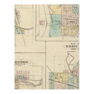 西のくねり、港ワシントン州、ハートフォードおよびHoricon ポストカード