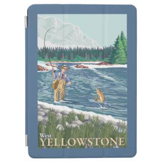 西のイエローストーン、モンタナ-はえの漁師 iPad AIR カバー