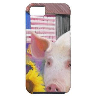 西のマリンからの幸せなブタ iPhone SE/5/5s ケース
