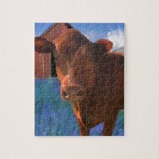 西のマリンの幸せな牛 パズル