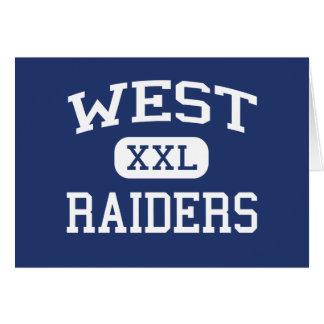 西の侵入者の西の中学校Anamosaアイオワ グリーティングカード