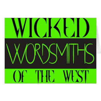 西の悪賢いWordsmithsは挨拶状を消します カード