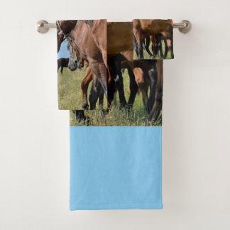 西の野生の馬 バスタオルセット