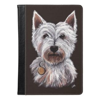 西の高地テリア犬パステル調ペット絵 iPad AIRケース