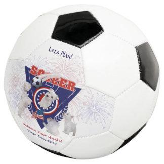 西の高地テリア米国の旗のデザインのサッカーボール サッカーボール
